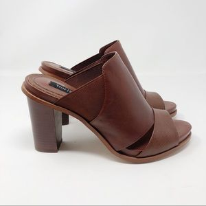 White House Black Market Leather Caylee Heels - 9